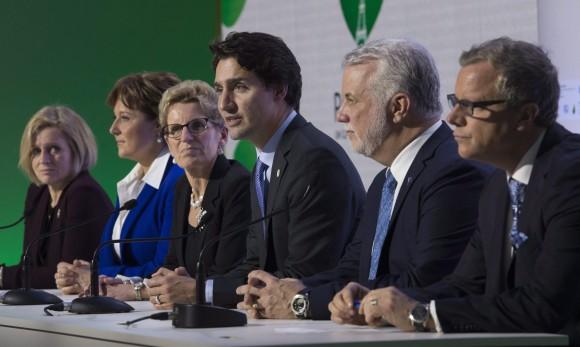 Justin Trudeau Rachel Notley Christy Clark Kathleen Wynne Philippe Couillard Brad Wall