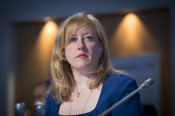 Lisa Raitt, Minister of Transport of Canada at the Closed Ministerial Session at the Annual Summit of the International Transport Forum on 22 May 2014 in Leipzig, Germany