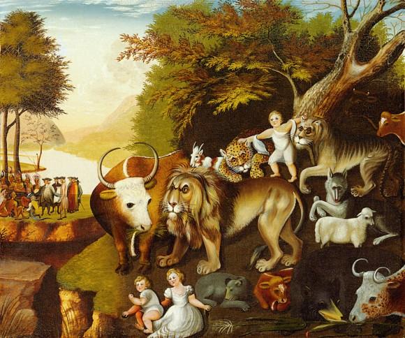 Peaceable Kingdom, oil on canvas, 75 x 89.5 cm