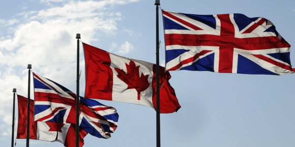 Canadian And British Flags 20120919
