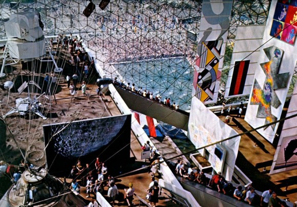 """Voice of Fire"" (middle right) in the US Pavilion at Expo 67. (Image: Jack Masey)"