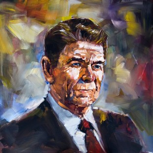 Reagan portrait by Steve Penley: A favourite of U.S. conservatives. (Image: theatlantic.com)
