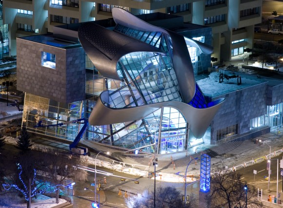 The new Art Gallery of Alberta in Edmonton opened in 2010. The Harper Conservative government contributed $10 million to the project.