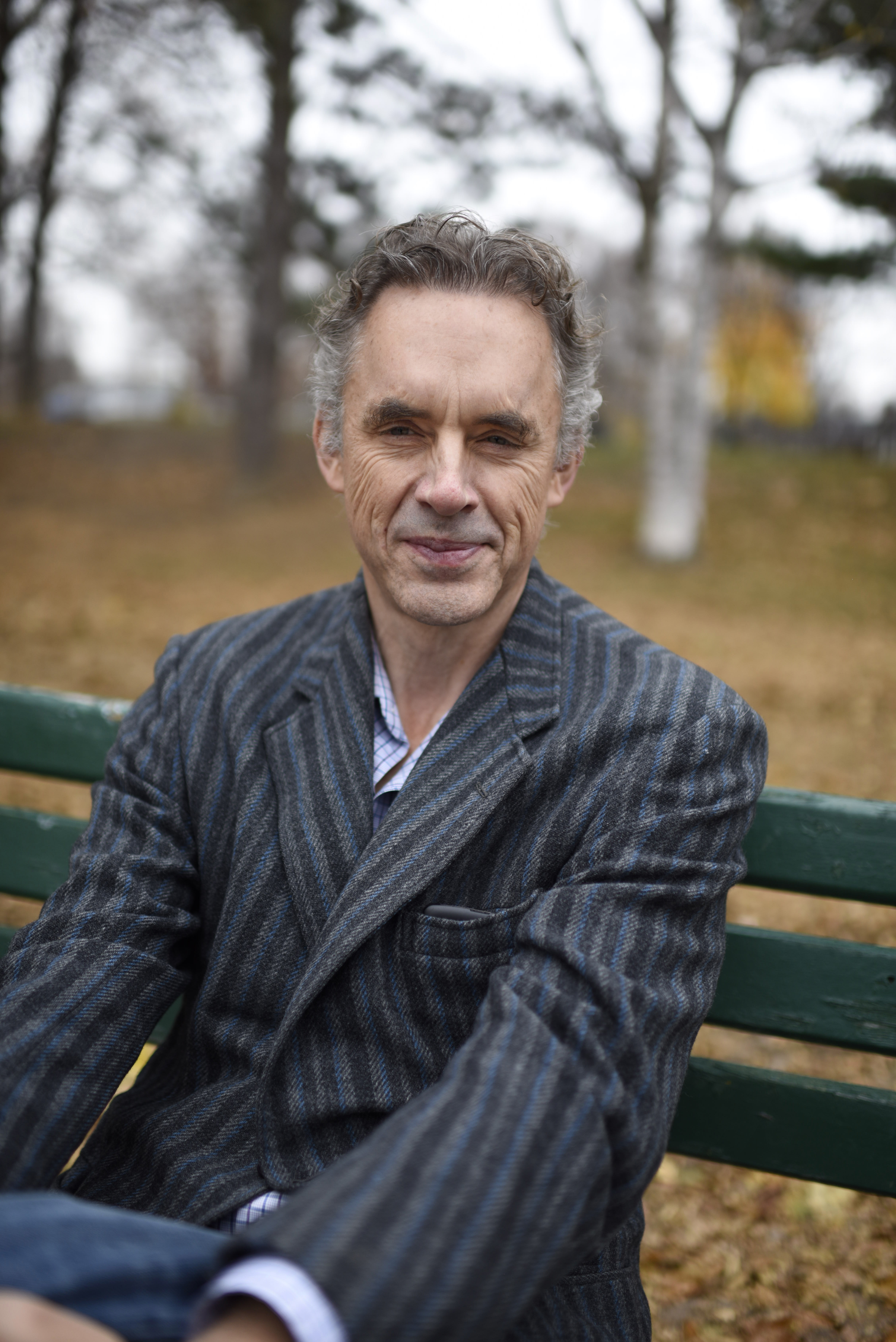 Dr. Jordan B. Peterson poses for a photo near his home in Toronto, Ontario on November 23, 2016. Photo by Marta Iwanek.