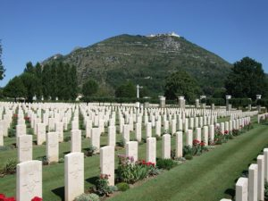 The Italian Campaign, Westminster Motor Regiment, Westies, Commonwealth Cassino Cemetery