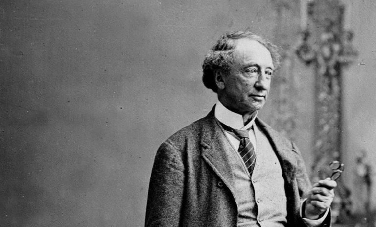 Portrait black and white shot of Sir John A. Macdonald.