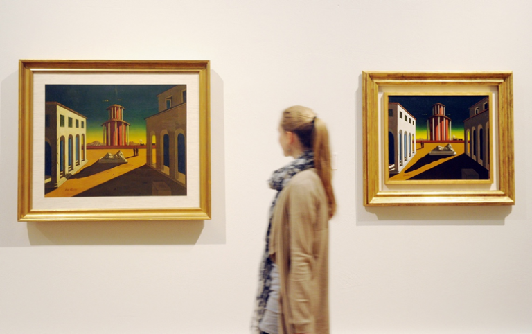 Italian artist Giorgio de Chirico painted cities bereft of people and other forms of life.