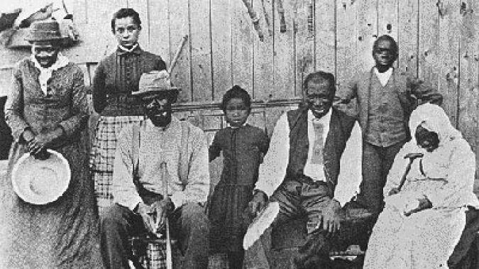 A group of runaway slaves who managed to reach Canada are pictured in Collingwood, Ontario.