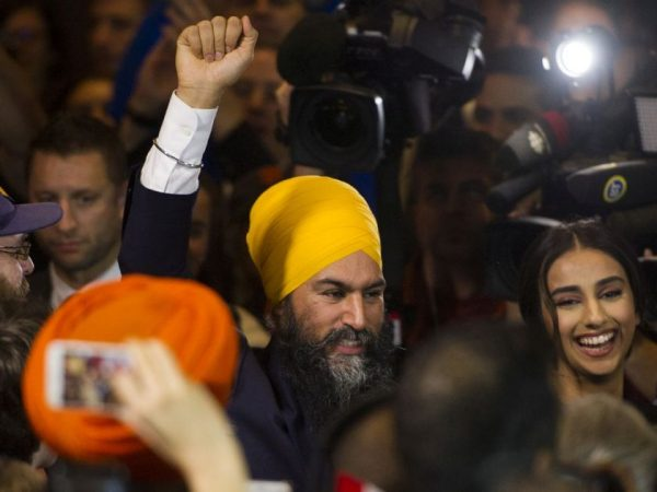 "If policy influence outside government is the goal, it's hard to beat the NDP record: Tommy Douglas, ""the father of Medicare"" (top), and current NDP leader, Jagmeet Singh (bottom), who holds the hammer in the Liberals' minority government."