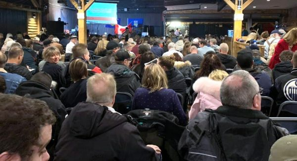 A standing-room-only 'Wexit' rally in Edmonton earlier this month