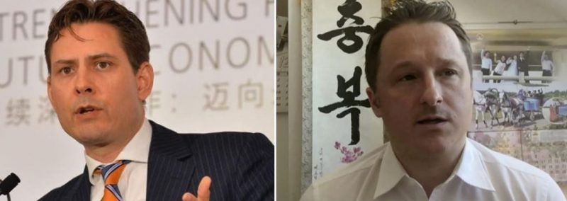 Two headshots of Michael Kovrig and Michael Spavor, the two Canadians held hostage in China. A retaliatory event by the Chinese government, further hindering the Canada-Chinese relationship.