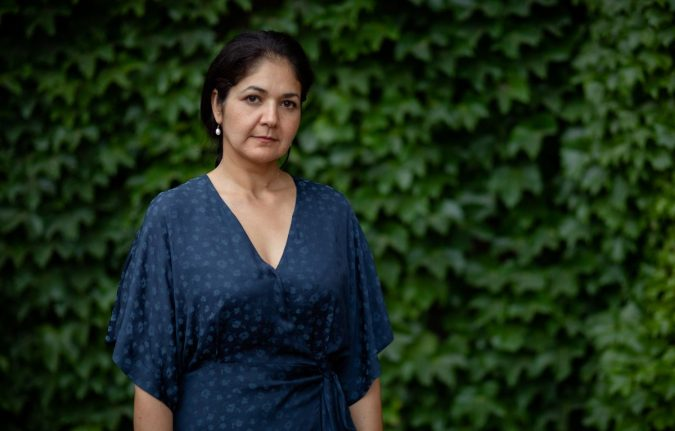 The wife of Michael Kovrig, Vina Nadjibulla, is pictured. A personal life held up by the escalating tensions between Canada and China.