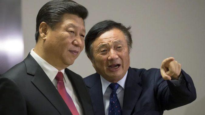Father of Huawei executive Meng Wanzhou is pictured, Ren Wanzhou, along with Xi Jinping, President of the People's Republic of China.