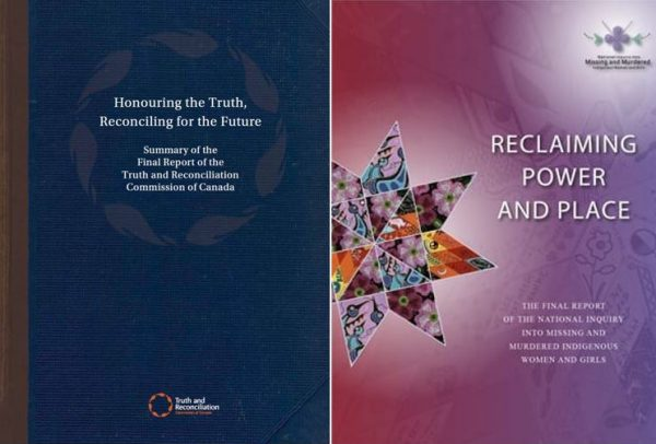 The cover of Canada's Truth and Reconciliation commission's report is shown.
