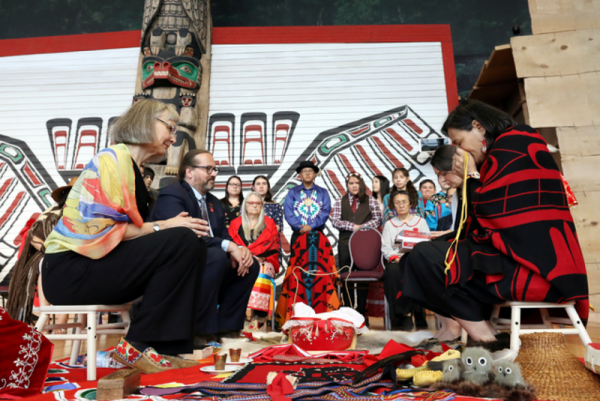 "A $60 million exercise to accuse Canada of ""genocide"": MMIWG healing ceremony in 2017 (above) and (below) closing ceremony in 2019."
