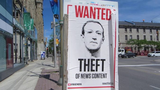 This poster campaign in Ottawa is taking issue with the effects of intellectual property theft. The group believes in this issue as the solution for news organization's, not journalism subsidies.