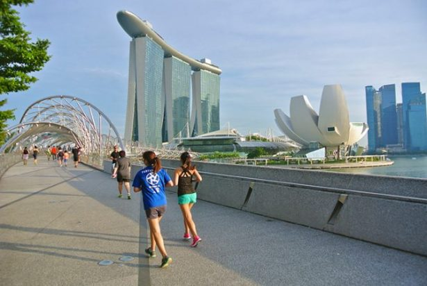Picture of the Marina Bay Sands Casino and Hotel. A so-called marvel of modern architecture.