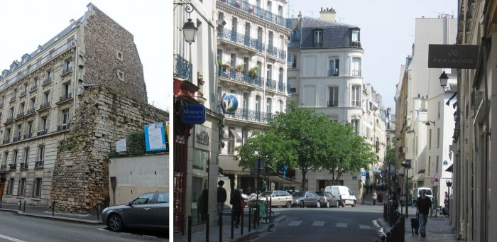 Picture of the clash of architectural styles in Paris' modern world