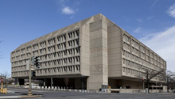 Picture ofthe Brutalist Hubert H. Humphrey Building, located in Washington, D.C.
