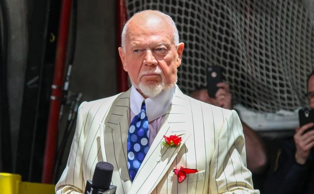 Picture of Don Cherry who expressed his opinion against the modern architecture of the Mississauga Civic Centre