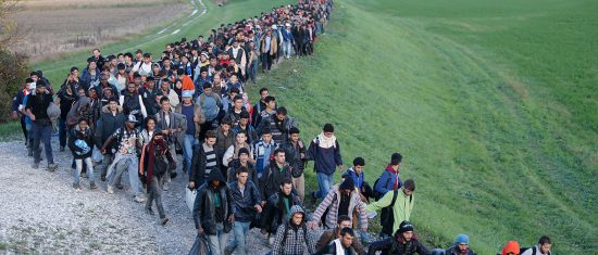 Wither Willkommenskultur? Despite many fanciful earlier claims, the notion of borderless migration now seems hopelessly naïve, given an inexhaustible supply of migrants. (Below, the Balkan route into Germany)
