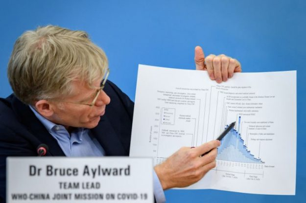 Dr. Bruce Aylward's is pictured as his narrative of the COVID-19 pandemic was cast aside for not confirming to the majority.