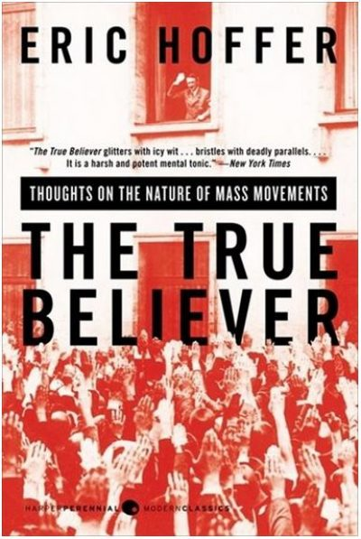 Pictured - cover of the book True Believer. The book discusses the potential for one's narrative to become their reality.