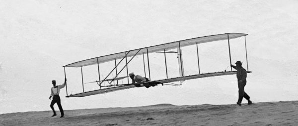 Another Western tool of oppression: The Wright Brothers take their maiden flight in 1903.