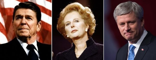 Ronald Reagan and Margaret Thatcher personified the successful conservative response to the declinism of the 1970s. Harper governed near the end of the post-Cold War era. Today brings new challenges.