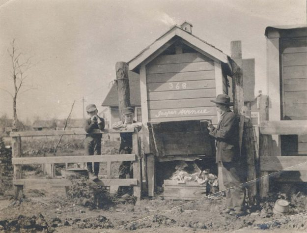 Pictured are privies in Winnipeg that the council mandated be kept clean. An example of the true role of public health, as opposed to today's government overreach into private life through public health topics.