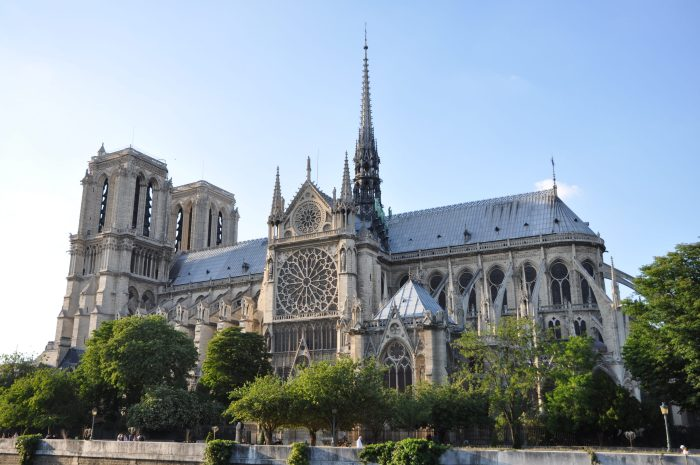 Pictured is Notre Dame Cathedral in modern day France, a building that barely survived the puritanical tirade of the French Revolution.