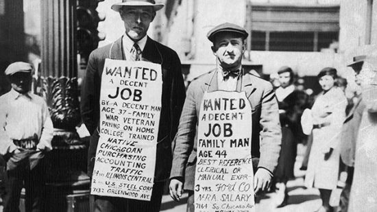 Picture of protesters during Spanish Flu recession. Could we see similar actions after our Covid-19 lockdown?
