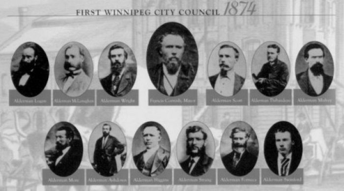 Pictured are Winnipeg's first city council who recognized the need for rigorous public health rules. The measures brought in by this council were focused on health and not gross government overreach into private life.