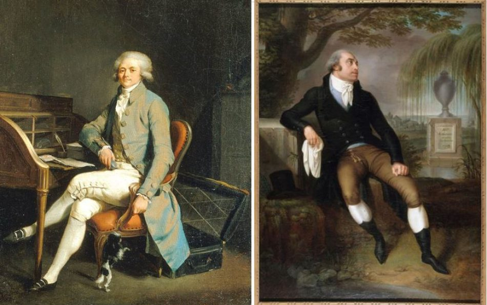'There are only good citizens and bad citizens': The puritanical Maximilien Robespierre, head of the Committee of Public Safety (left), and moderate Girondin deputy Pierre Vergniard (right); both were consumed by the Reign of Terror.
